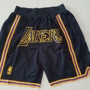 Lakers JUST DON Black City Mamba Shorts